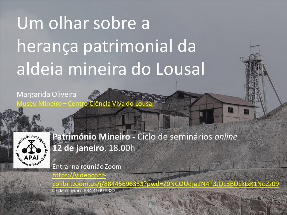 Seminários online promovidos pela Associação Portuguesa de Arqueologia Industrial