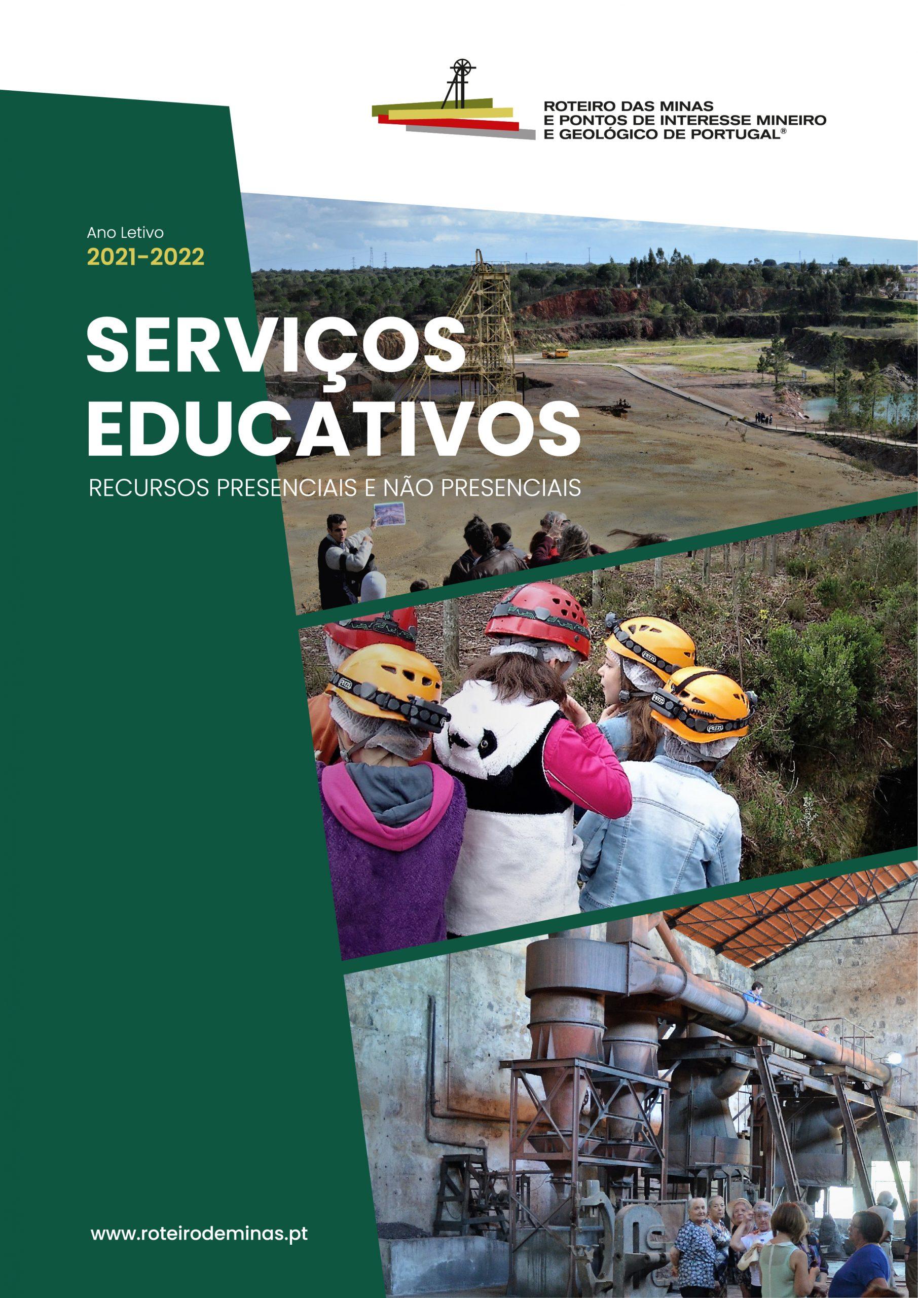 Roteiro de Minas e Pontos de Interesse Mineiro e Geológico de Portugal – Serviços Educativos do ano letivo 2021-2022